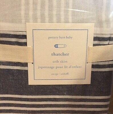 Pottery Barn Baby- Thatcher Crib Toddler Bed Skirt ~ NWT