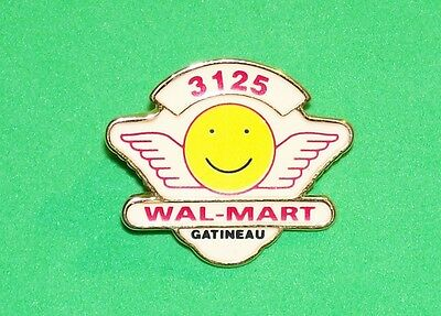 Canadian Wal-Mart Store #3125 Gatineau Quebec Canada Lapel Pin Smiley & Wings