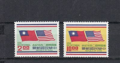 T24716 China Taiwan 1140-1141 postfr./mnh Flaggen flags USA
