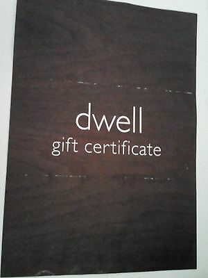 £500 Dwell (furniture) gift certificate