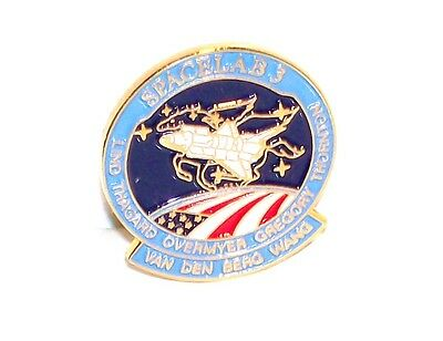 Nasa Space Shuttle Lapel Pin Spacelab 3 Lind Thagard Overmyer Gregory Thornton +