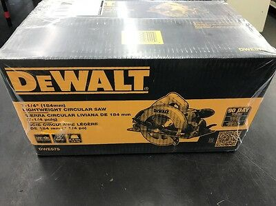 "DeWalt DWE575 15-Amp Corded 7-1/4"" Lightweight Circular Saw NEW!"