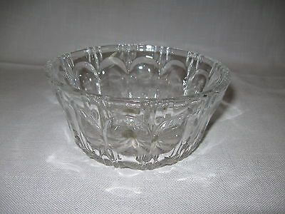Crystal Clear Glass Deploma Candy Dish Bowl Compote 24% Lead Crystal