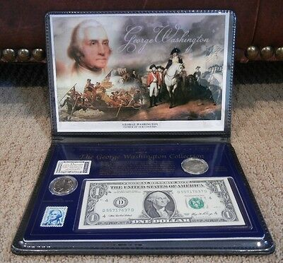 George Washington Collection – Coins, Stamps, Dollar Bill Commemorative