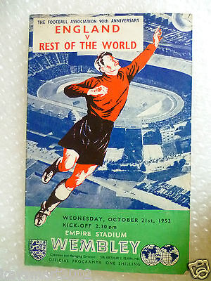 1953 ENGLAND v REST OF THE WORLD, 21st Oct