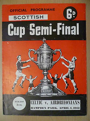 Football Scottish Cup Semi Final 1961-CELTIC v AIRDRIEONIANS at Hampden, 1 April
