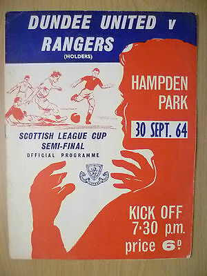 1964 Scottish League Cup SEMI FINAL- DUNDEE UNITED v RANGERS, 30 September