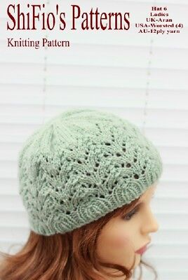 KNITTING PATTERN for Isla Ladies HAT, BEANIES, #HKP6 by ShiFio's Pattern