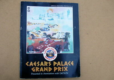 1981 Caesars Palace Grand Prix Official Inaugural Program~Formula 1~Piquet