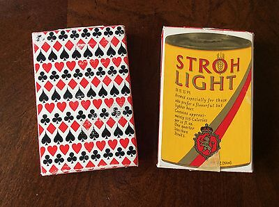 1979 Stroh Light Beer Bridge Playing Cards - Set Of 2 Complete Sets
