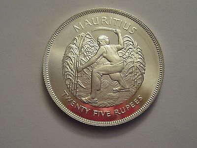 1977 Mauritius Silver 25 Rupees
