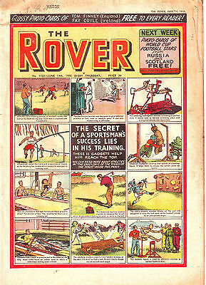 The ROVER 14 JUNE 1958 GREAT BRITISH VINTAGE COMIC - SEE THE ADVERTS! VGC