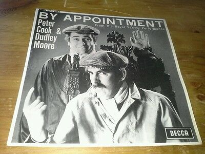 "Peter Cook & Dudley Moore - By Appointment - 7"" 45rpm E.P. - 1965 - Mono DFE8644"