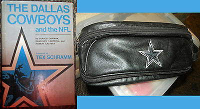 Book + Grooming bag pair: Dallas Cowboys & NFL -- Forward by Tex Schramm
