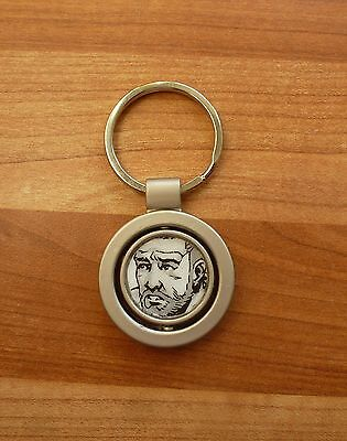 Rick Grimes (THE WALKING DEAD) metal decoupaged keyring