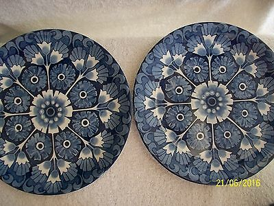 Alfred Meakin. Blue & White. Palma  Two Dinner Plates