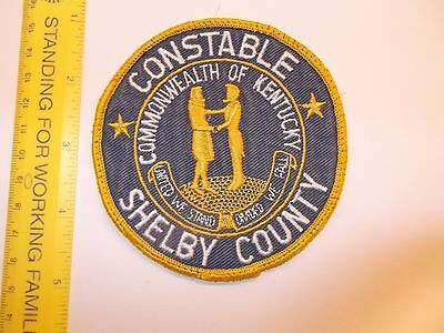 Kentucky - Shelby County Constable Office 1980s twill issue small agency rare HT