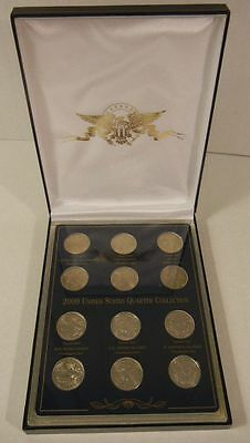 2009 US Territories Quarter Collection, 12 Coins in Case and Display Box