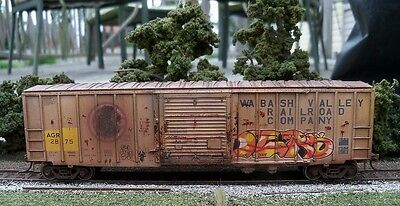 Walthers Custom Weathered HO Scale ACF 50' Boxcar AGR 2875