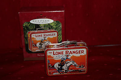 Hallmark Ornament 1997 The Lone Ranger Tin Metal Lunch Box Boxed