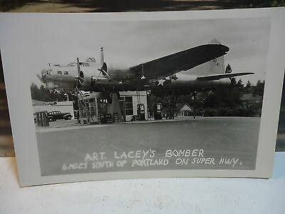 Art Lacey's Bomber RPPC New Condition