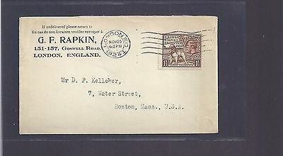 1924 UK Cover-British Empire Exhibition-London to Boston