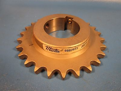 "Martin 60B26SS, bored to 2 1/2"" stainless steel Sprocket, 60BS26 SS"