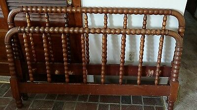 Antique Jenny Lind full size headboard & footboard