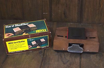 Automatic Card Shuffler Push Button Casino Poker Vintage