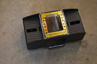Automatic Card Shuffler Push Button Casino Poker Vintage battery power