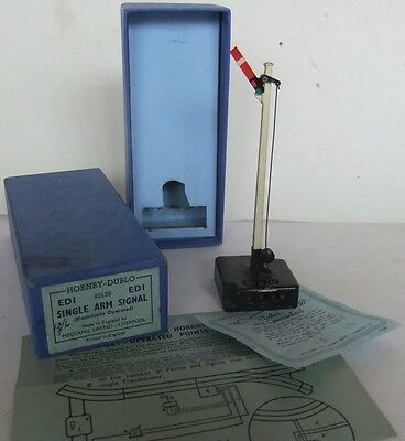 HORNBY DUBLO ED1 electric Single Arm Home Signal (Boxed)