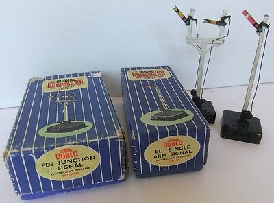 HORNBY DUBLO ED1 & ED3 Home and Distant Junction electric Signals (Boxed)