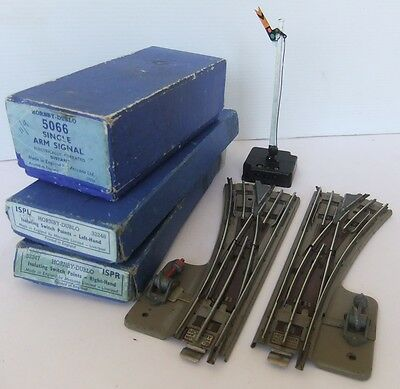 HORNBY DUBLO 5066 Single Arm Distant electric Signal & ISPL/ ISPR points (Boxed)
