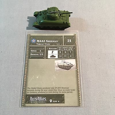 Axis & Allies Miniatures / M4A1 Sherman Tank / 21/48 / United States