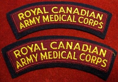 Canada: Royal Canadian Army Medical Corps shoulder flashes (set of 2)