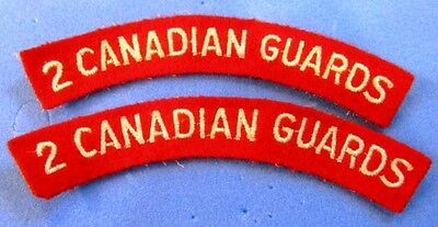Canada: 2nd Canadian Guards Regiment shoulder flash set of 2