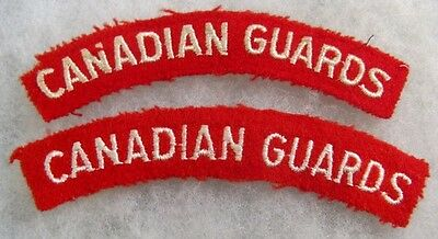 Canada: Canadian Guards Reg't shoulder flash set of 2