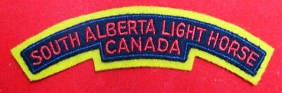 Canada: South Alberta Light Horse Reg't shoulder flash