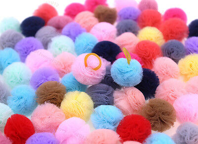 """Pet Puppy Dog Cat Hair Bows Small Ball with Rubber Bands Dog Grooming 2cm/0.78"""""""