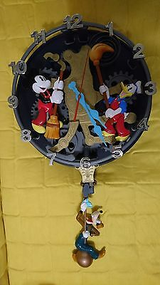 Extremely Rare Walt Disney Donald Duck, Mickey Mouse and Goofy Big Wall Clock