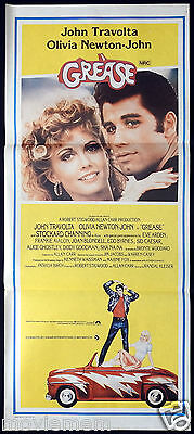 GREASE Original Daybill Movie Poster John Travolta Olivia Newton John