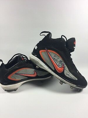 Pedro Martinez Game Used 2007 Signed Cleats Red Sox Mets Expos Steiner Hologram