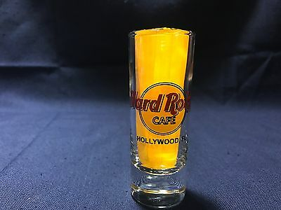 "Hard Rock Cafe HOLLYWOOD Florida 4"" Shooter Double Shot Glass"