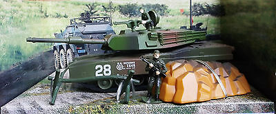 New Diecast Metal And Plastic Military Force Abram Tank Set  & Soldier