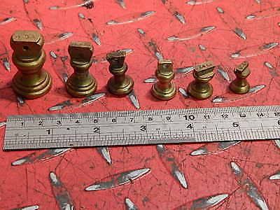 Set Of Brass  Post Office Vintage Weights 4Oz-1/4Oz Collectables