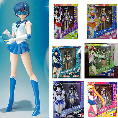 "Anime Sailor Moon 6"" Pretty Guardian Mercury Figuarts Action Figure Collect Toys"