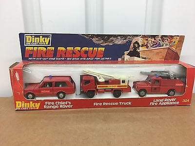 AE 1978 Dinky #304 Dinky Fire Rescue Set  New in PKG