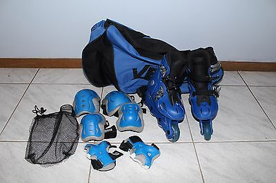 Roller Blades Inline Skates (Adjustable size 25-29) with helmet  and protectors