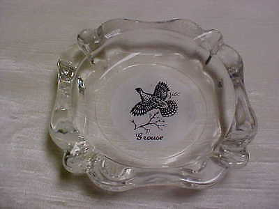Vintage 1960's  Federal Glass Company Grouse pattern/design Cigarette Ashtray