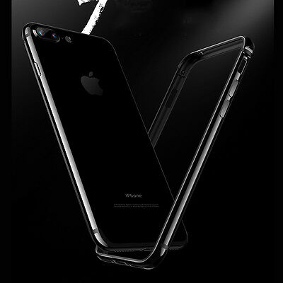 Black Shockproof TPU with Metal Bumper Frame Protector for iPhone 7 Plus